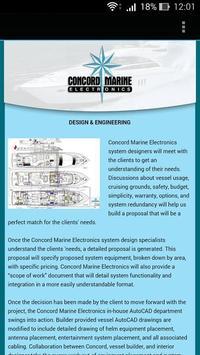 Concord Marine Electronics apk screenshot