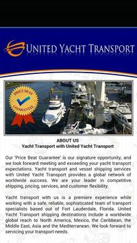 United Yacht Transport apk screenshot