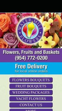 Water Mill Flowers poster
