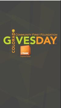 Colorado Gives Day poster