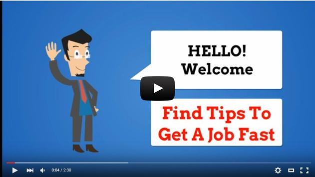Find Tips to Get A Job Fast apk screenshot