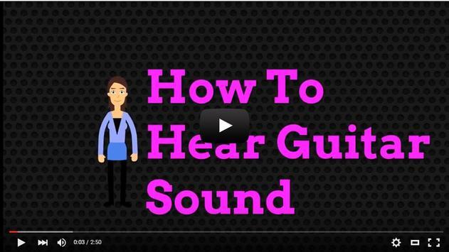 How To Hear Guitar Sound apk screenshot