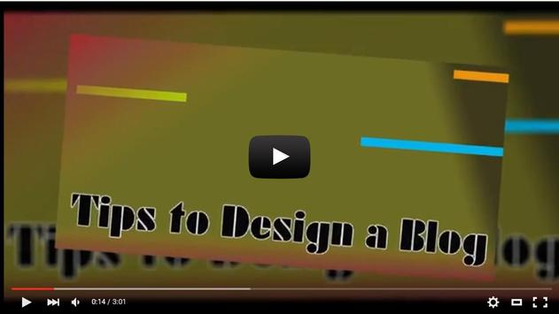 Tips to Design a Blog apk screenshot