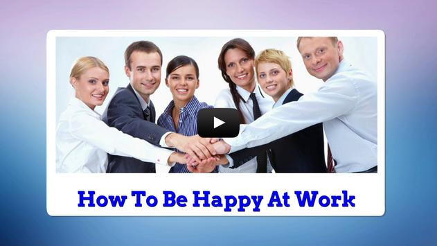 How To Be Happy At Work apk screenshot