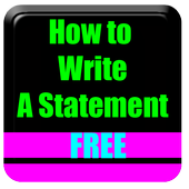 How To Write A Statement icon