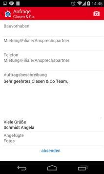 Clasen & Co. Handwerker-App apk screenshot