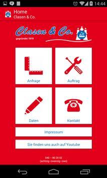 Clasen & Co. Handwerker-App poster