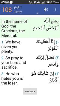 Quran in English and Arabic poster