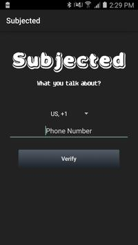 Subjected poster