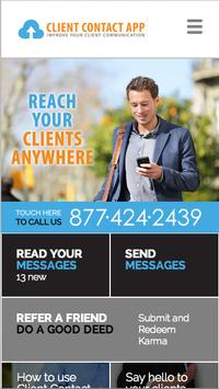 Client Contact App poster