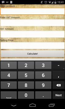 VAT Calculator apk screenshot