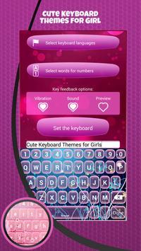Cute Keyboard Themes for Girl apk screenshot