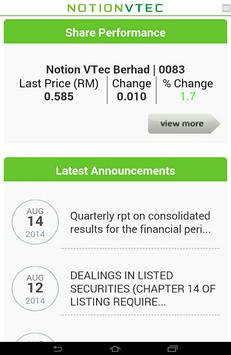 Notion VTec Investor Relations apk screenshot