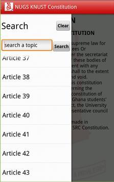 NUGS-KNUST Constitution apk screenshot