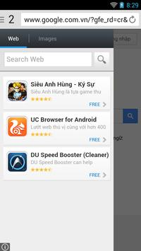 Corom Browser for Android apk screenshot
