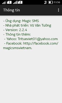 Magic sms (free sms fake sms) apk screenshot
