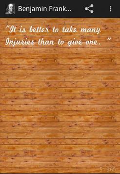 Benjamin Franklin Quotes apk screenshot