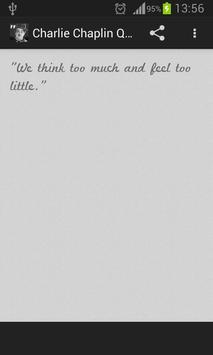 Charlie Chaplin Quotes apk screenshot