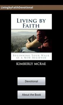 Living by Faith Devotional poster