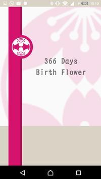 366 Days Birth Flower poster