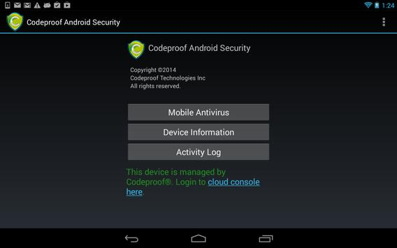 Codeproof MDM for Android apk screenshot