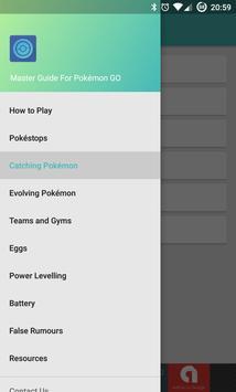 Master Guide for Pokemon GO poster
