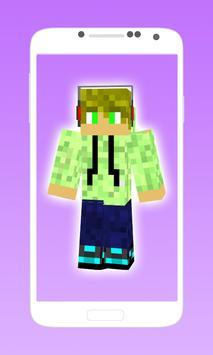 Cool boy skins for minecraft apk screenshot