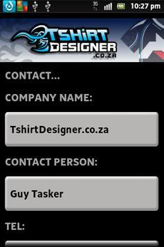 Global T-shirt Design Service apk screenshot
