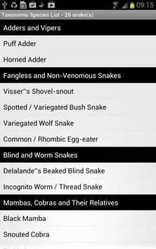 Snakes of Southern Africa Lite apk screenshot