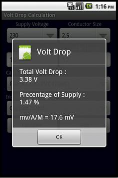 Volt Drop Calculator Pro apk screenshot