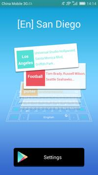 San Diego dictionary TouchPal poster