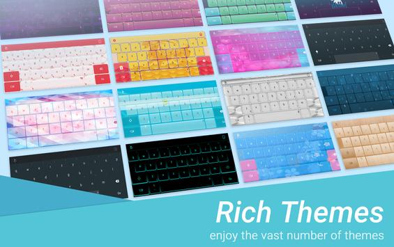 Icy Blue Keyboard Theme poster
