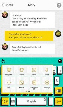 TouchPal Pop Art Aqua Theme apk screenshot