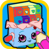 Kids Coloring book for Shopkin icon