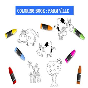 Picture Coloring Farm poster