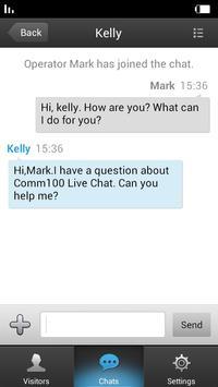 Comm100 Live Chat apk screenshot