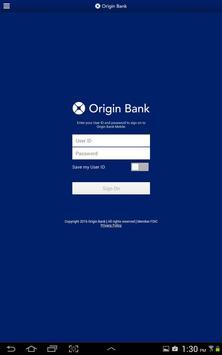 Origin Bank Tablet apk screenshot
