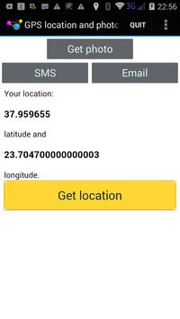 Email my location and photo apk screenshot