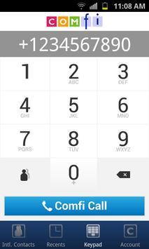 Comfi International Phone Card apk screenshot