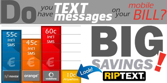 RIPText SMS RIP Text message poster