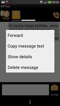 RIPText SMS RIP Text message apk screenshot
