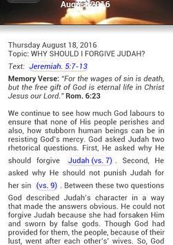 CON Bible Study Outline 2016 apk screenshot