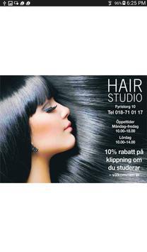 Hairstudio Uppsala poster