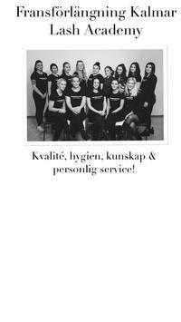 Fransförlängning Kalmar poster