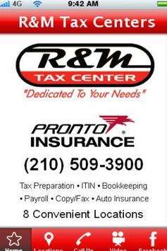 R&M Tax Centers poster