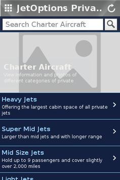 JetOptions Private Jets apk screenshot