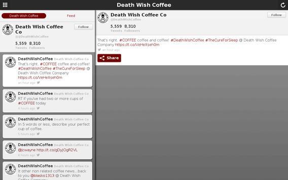 Death Wish Coffee Company apk screenshot