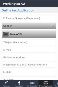 Workingtax AU apk screenshot
