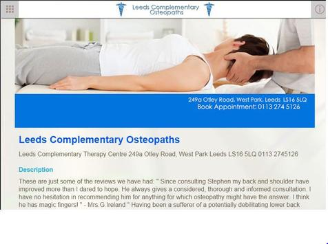 Leeds Complementary Osteopaths apk screenshot