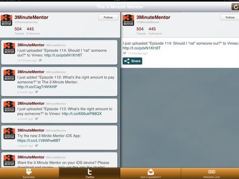 The 3 Minute Mentor apk screenshot